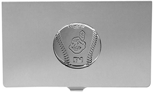 MLB Cleveland Indians Engraved Business Card Holder