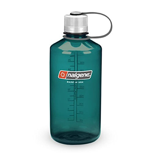 Nalgene Tritan 1-Quart Narrow Mouth BPA-Free Water Bottle, Trout Green ()