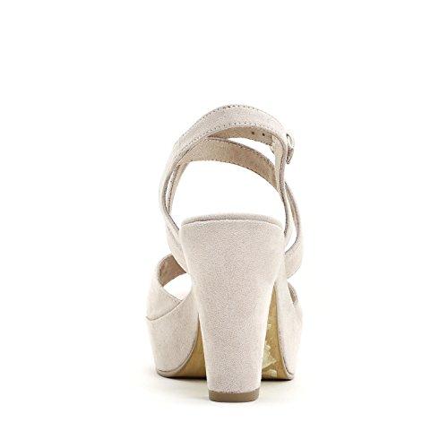 Prendimi Scarpe&Scarpe - Sandalias Altas Cruzadas, con Tacones 10 cm Beige