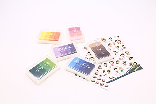 24 Assorted Colors Craft Ink Pad Stamps Partner DIY Set of 6