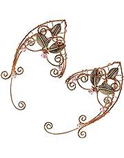 FRCOLOR 1 Pair Ear Crawler Climber Earrings Wrap Ear Clip Wrap Cuff Elf Ears Stud Jacket Earrings Women Ear Jewelry