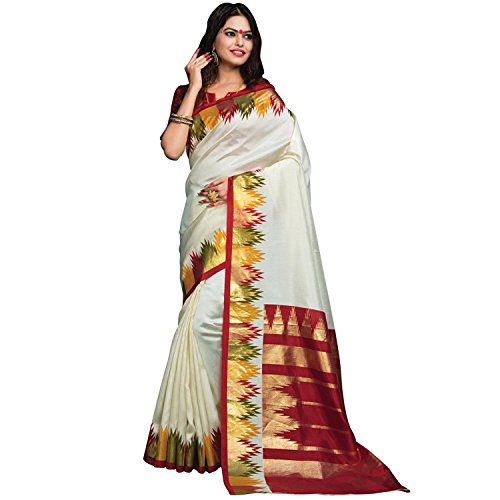 Saree Embriodery Export Womens Indian With Piece Blouse Silk Satin Handicrfats Beige wXT4x0Zf