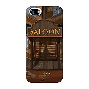 Wild West Saloon Full Wrap High Quality 3D Printed Case for iPhone 5 / 5s by Nick Greenaway + FREE Crystal Clear Screen Protector