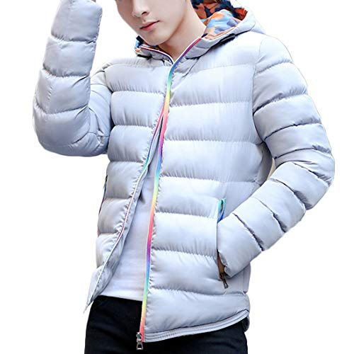 New Short Slim and Coat Men's fit Inlefen Paragraph Autumn Winter Fashion Stitching Jacket The Gray Outerwear wPPI1