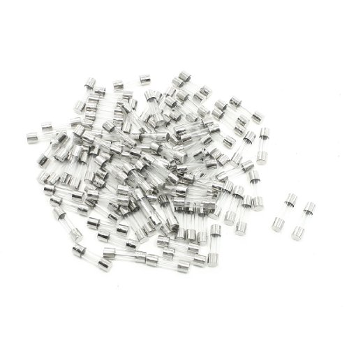 Aexit 10Amp 250V Fuses Replacement Cylindrical 5mm x 20mm Glass Tube Fuses Cartridge Fuses 100 Pieces
