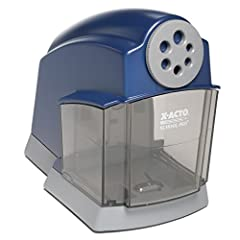 Engineered and designed specifically for classroom use, the X-ACTO SchoolPro Classroom Electric Pencil Sharpener combines smart sharpening technology with rugged construction for dependable performance. This sharpener utilizes a flyaway helic...