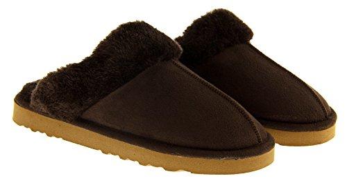 Footwear Studio - Zapatillas de estar por casa para mujer Marrón Chocolate
