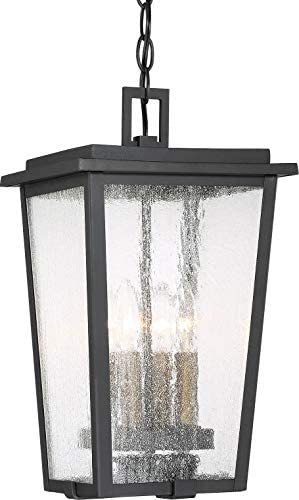 Minka Lavery 72754-66G Cantebury Outdoor Pendant Ceiling Lighting, 4-Light, 240 Watts, Sand Black Burnt Gold 16 H x 9 W