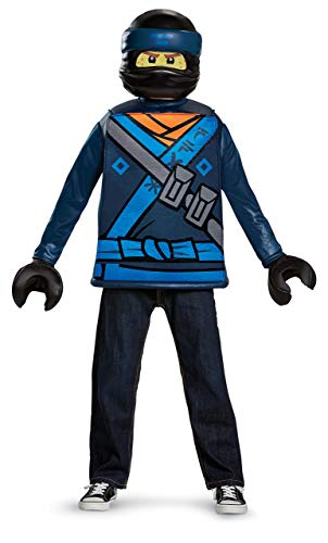 Disguise Jay Lego Ninjago Movie Classic Costume, Blue, Large (10-12) -