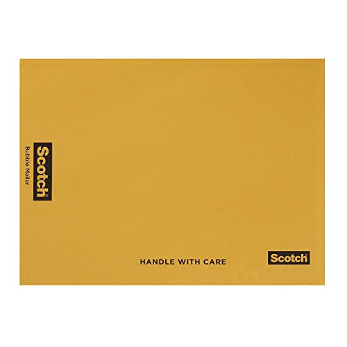 Scotch Bubble Mailer, 12.5 in x 18 in, Size #6, 10-Pack (7935)