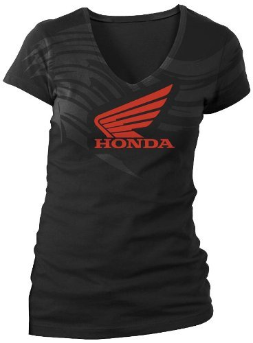 Honda Motorcycle Shirts (Honda Women's Abstract Wings Black T-shirt, XL)