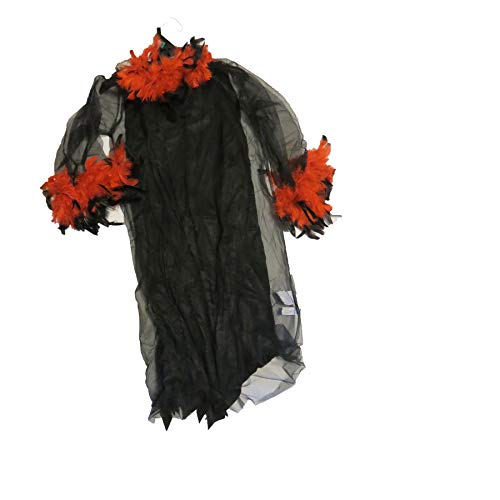 Walmart Red Black Feather Witch Costume 4-6