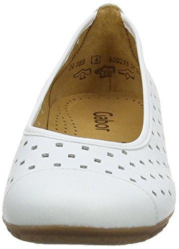 Da Donna Ballerine Gabor Leather Bianco white q0g1wZzAW