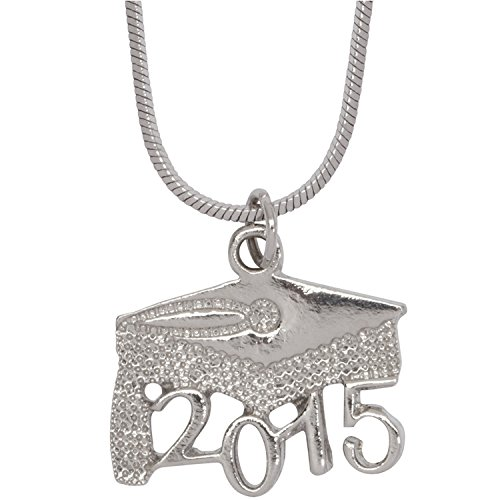 Class of 2015 Graduation Cap Pendant with Necklace