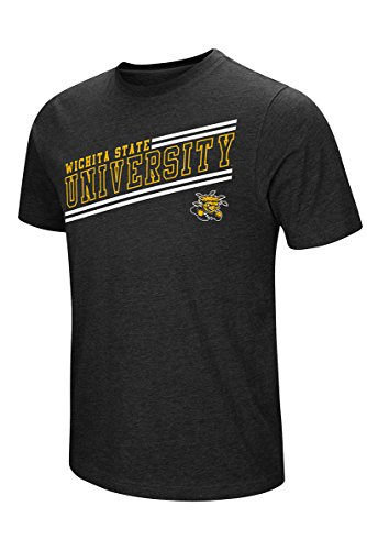 Colosseum Men's NCAA Fly Ball Short Sleeve Tee L, Wichita State University