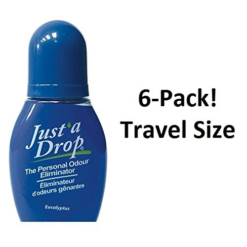 Just a Drop (R) - America's Favorite Bathroom Odor Eliminator - Travel Size 6 ml / 200+ Uses / Eucalyptus Scent - 6-Pack! by Just A Drop (Image #1)