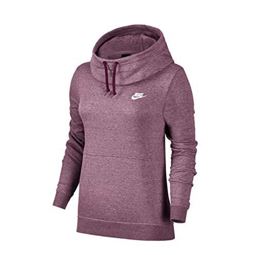 Nike Plum Femme Sweatshirt htr white Fnl Dust Flc W Nsw bordeaux OxYwqfOr