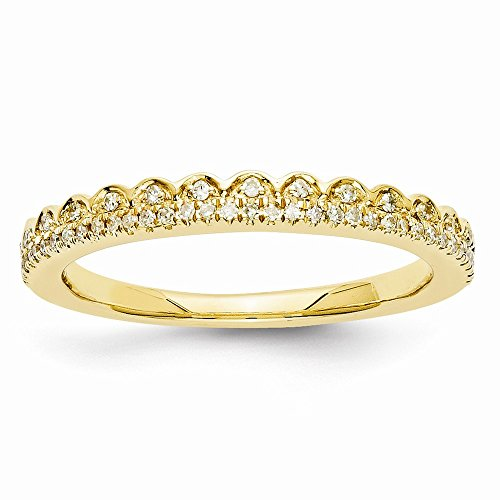 JewelrySuperMart Collection 1/6 CT 14k Yellow Gold Round Diamond Ring. 0.15 - Shank Lockshank