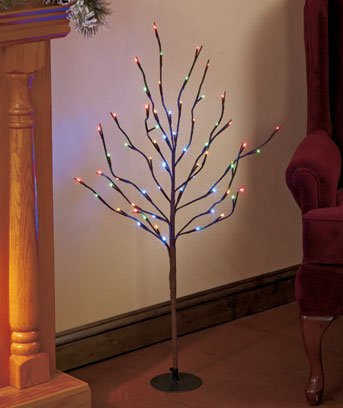 INDOOR/OUTDOOR 38u0026quot; WRAPPED METAL LED LIGHTED BRANCH TREE - MULTI-COLORED LIGHTS & Amazon.com : INDOOR/OUTDOOR 38