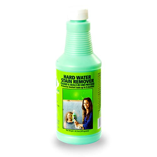 Hard Water Spot Remover - Bio Clean: Eco Friendly Hard Water Stain Remover (20oz Large)- Our Professional Cleaner Removes Tuff Water Stains From Shower doors, Windshields, Windows, Chrome, Tiles, Toilets, Granite, steel e.t.c