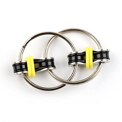Multifuncional Cadena de Flippy Fidget juguete–perfecto para ADHD, la ansiedad, y autismo–Cadena de bicicleta...