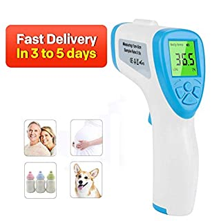 Infrared Thermometer Non-Contact Digital Laser Forehead Thermometer for Baby & Adult, Forehead and Ear Thermometer for Baby Kids and Adults Surface