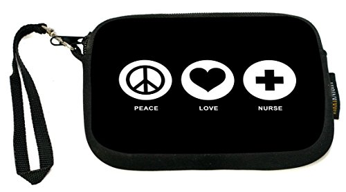 Rikki Knight Peace Love Nurse Black Color Design Messenger Bag - School Bag - Laptop Bag - with Padded Insert - Includes UKBK Premium Coin Purse by Rikki Knight (Image #2)