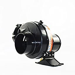 Seaflo In Line Bilge Air Blower 130CFM Boat Black Ventilation Marine 12V 2.5AMP