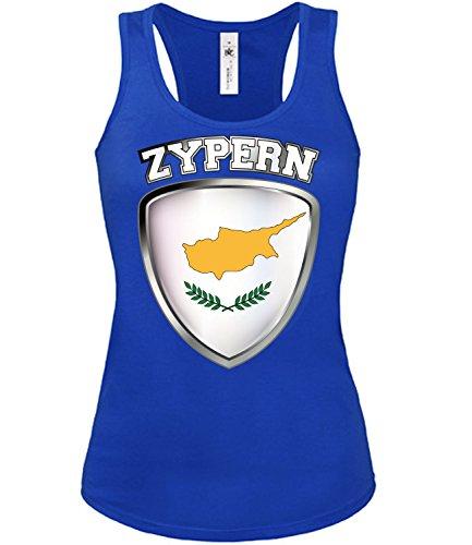 Copa del Mundo de fútbol - Campeonato de Europa de Fútbol - ZYPERN FANmujer camiseta Tamaño S to XXL varios colores S-XL Azul