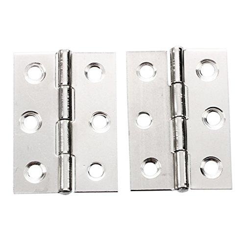 Stainless Steel 2 Inch 4.4x3.1cm Cabinet Door Hinges Hardware - 2