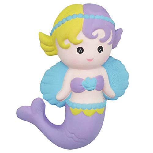 Hisoul Angel Mermaid Stress Reliever Toys Kids Super Fun Squeeze Healing Toys for Collection Gift, for Collection Gift, Decorative Props or Decompression (♥ B)]()