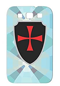 Templar Knight Buckler Symbols Shapes Sign Miscellaneous Cross History Black For Sumsang Galaxy S3 TPU Cover Case