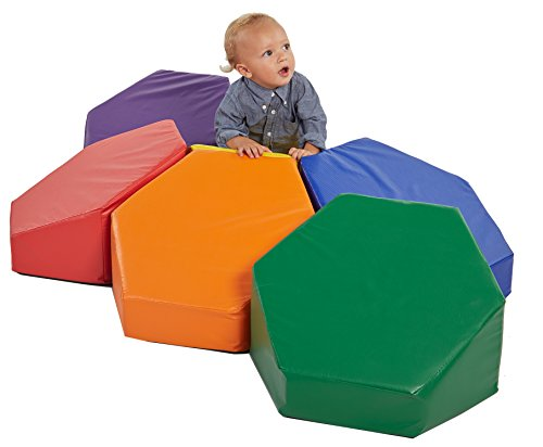 ECR4Kids SoftZone Steady Stepping Stones for Kids, Assorted (6-Piece Set) by ECR4Kids