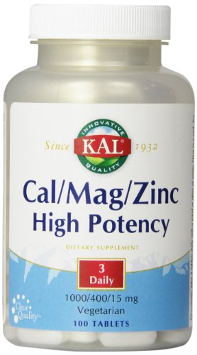 KAL CAL / MAG / comprimés de zinc, 100 1000/400/15 mg, 100 Count