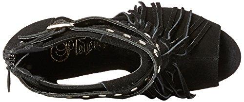 Pleaser DELIGHT-600-21 - Zapatos de vestir para mujer Blk Suede/Blk Matte