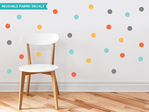 Sunny Decals Polka Dot Fabric Wall Decals (Set of 48), 2