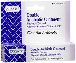 Fougera double antibiotic first aid ointment (Bacitracin Zinc and Polymyxin B Sulfate Ointment USP) - 1 oz by Bacitracin (Fougera Bacitracin Zinc Ointment)