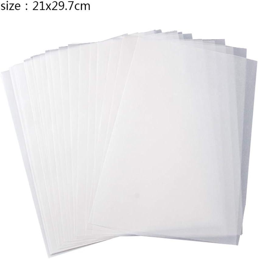 Transparentpapier 100 Blatt A4 s/äurefrei lichtdurchl/ässiges Papier zum Zeichnen Drucken Grafikdesign