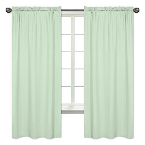Sweet Jojo Designs 2-Piece Mint Green Window Treatment Panels