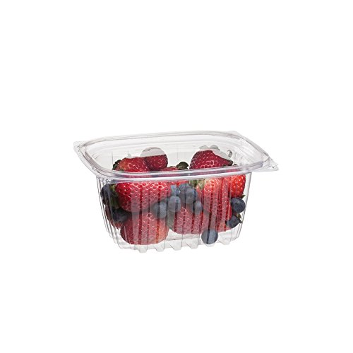 Eco-Products - Renewable & Compostable Rectangular Deli Container with Lid - 16oz. Container - EP-RC16 (Case of 300)