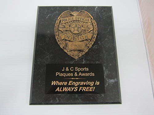 Police Law Enforcenent Bronze Plaque 8