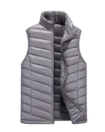 Padded Vest Gilets Grey Coat Down Sleeveless Lightweight Men's DianShaoA Jacket 6qIv4EwB