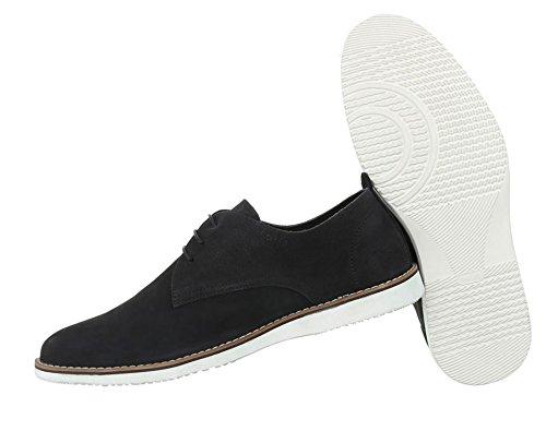 Herren Schuhe Business-Schuhe Leder Leder Business-Schuhe Schnürer Schwarz f0f154