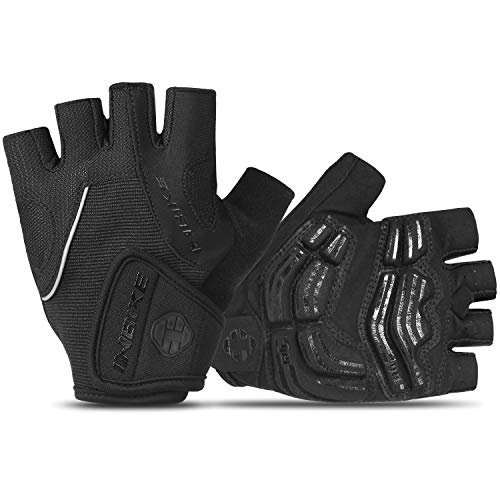 INBIKE Bike Bicycle Gloves 5mm Gel Pad Half Finger Cycling Gloves Black X-Large