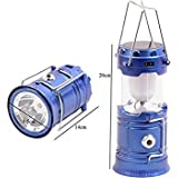 Saysha Solar Power Rechargeable Lantern with 6 LED, Black