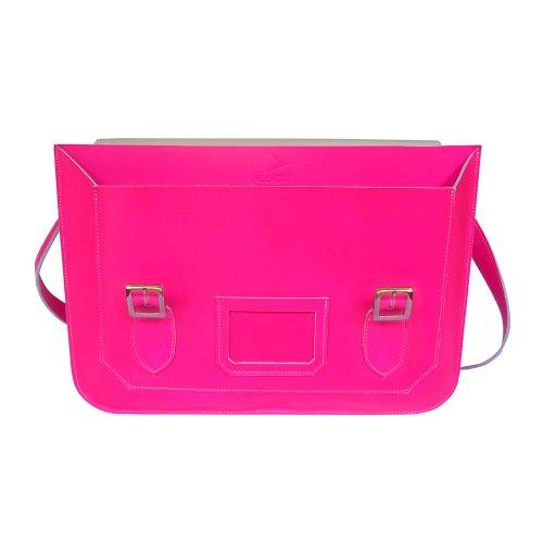 FLUOA Supernova Néon Rose XL - Bolsa escolar de Piel  Hombre Niños Mujer Unisex adulto rosa rosa flúor