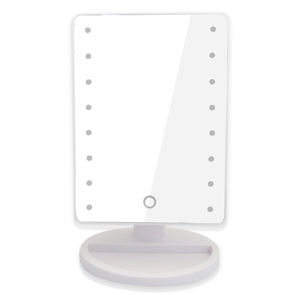 delicate led tabletop makeup mirror/Square large luminous mirrors/ Princess of beauty mirror/ give gifts mirror-B