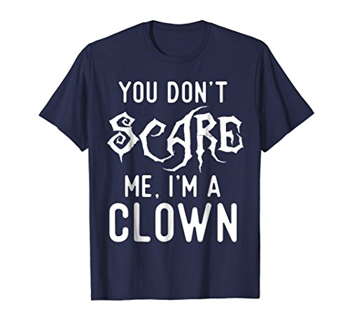Mens Funny Clown Shirts Halloween Scary Costume Joke