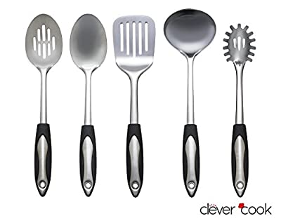 Clever Cook Stainless Steel Set of Kitchen Utensils by Clever Cook