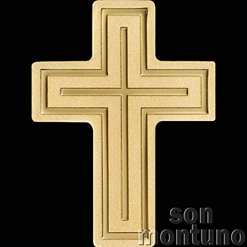 GOLDEN CRUCIFIX - 24K Half Gram Gold Cross of Jesus Christ Coin in Capsule with Certificate of Authenticity - PALAU $1